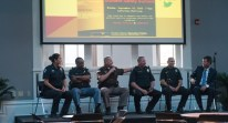 Notre Dame Security Police officers, joined by local police officers, offered advice to students Monday night at LaFortune Student Center. The officers discussed many topics, including active shooter situations.