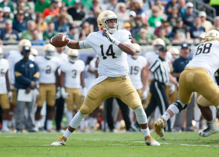 Quarterback DeShone Kizer threw for 223 yards in 27 attempts.