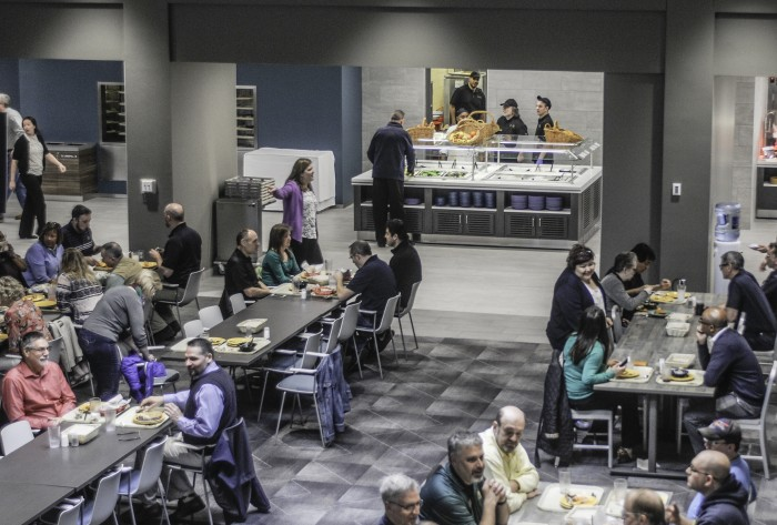 North Dining Hall hosts a test lunch Friday in its newly renovated north wing.