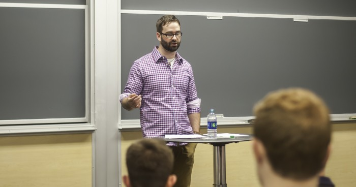 Matt Walsh, a columnist for the Blaze, discussed the impact of liberalism on Catholicism Tuesday evening.