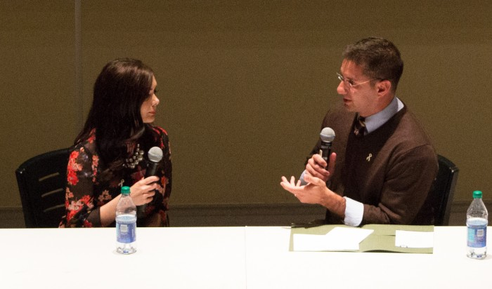 A panel featuring a former porn star and a married couple whose relationship was affected by porn, discusses the effects of the industry.