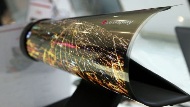 LG to Showcase 18-Inch Rollable Oled Display at CES 2016