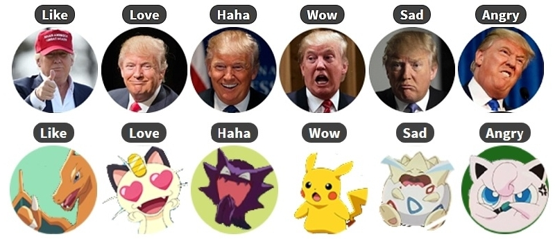 How To Swap Facebook Reactions Emoji With Pokemon Donald