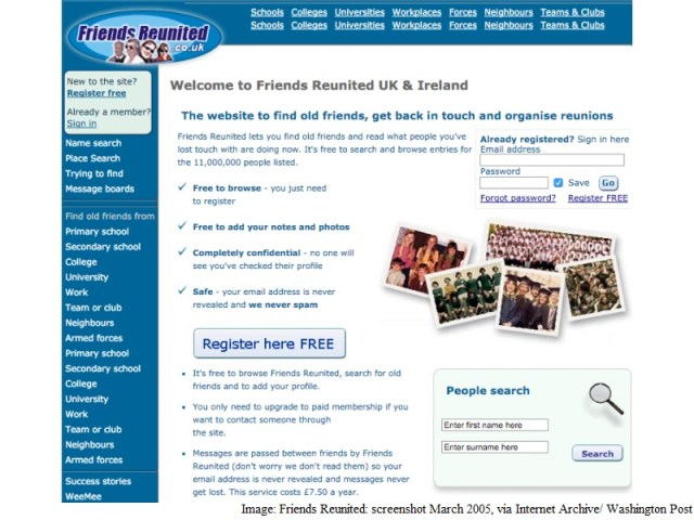 Friends Reunited, One of the Internet's Oldest Social Networks, Dies at 16