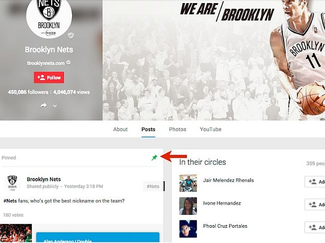 Google+ Now Features Pinned Posts for Profiles and Pages