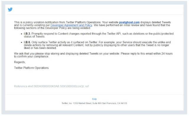 Twitter Reportedly Forces Tweet-Archiver PostGhost to Shut Down