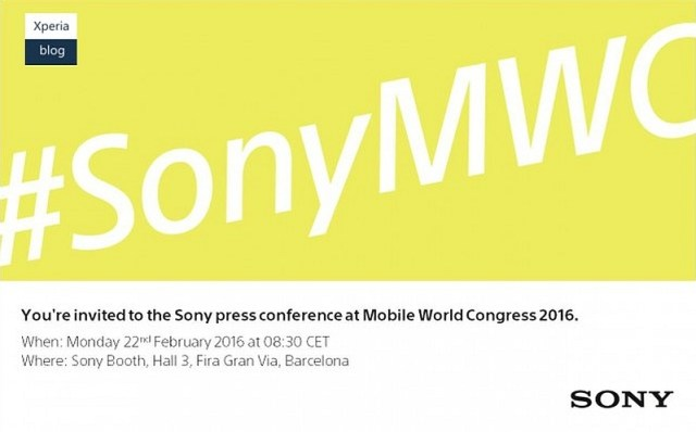 Sony Announces February 22 Event at MWC 2016