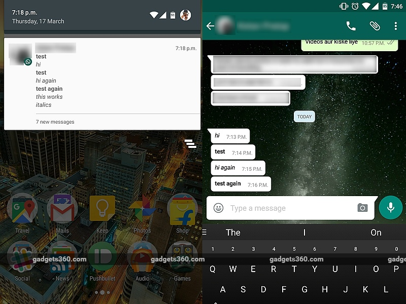 WhatsApp for Android Gets Text Formatting, File Sharing via Google Drive, and More