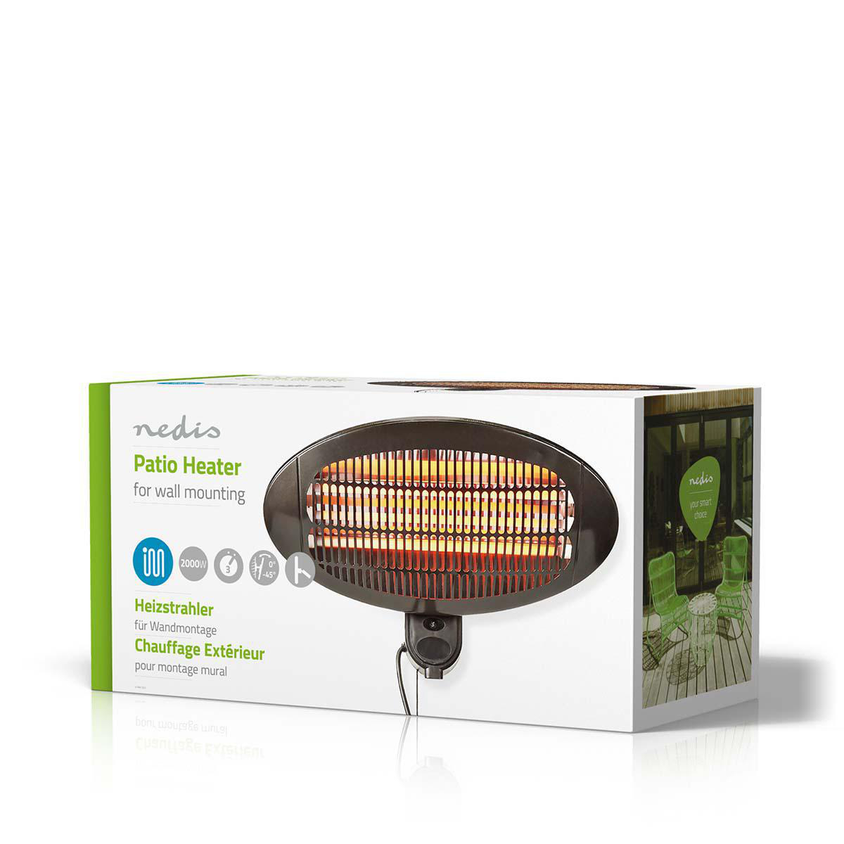 patio heater 2000 w 3 heat settings