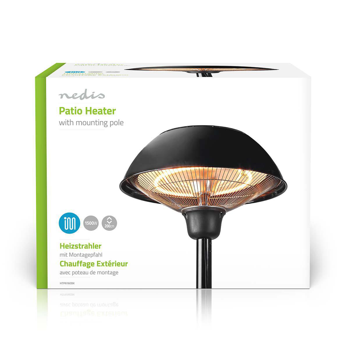 patio heater 1500 w 1 heat setting