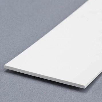 Champlat De Finition Pvc Blanc 20 X 2 Mm Longueur 2 6m Nelinkia