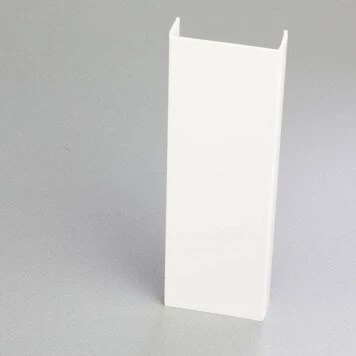 profile pvc en u de 60 mm blanc pour chants de panneaux et cloisons
