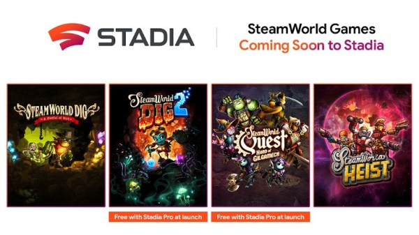 Raft of SteamWorld games coming to Stadia, two free for Pro users