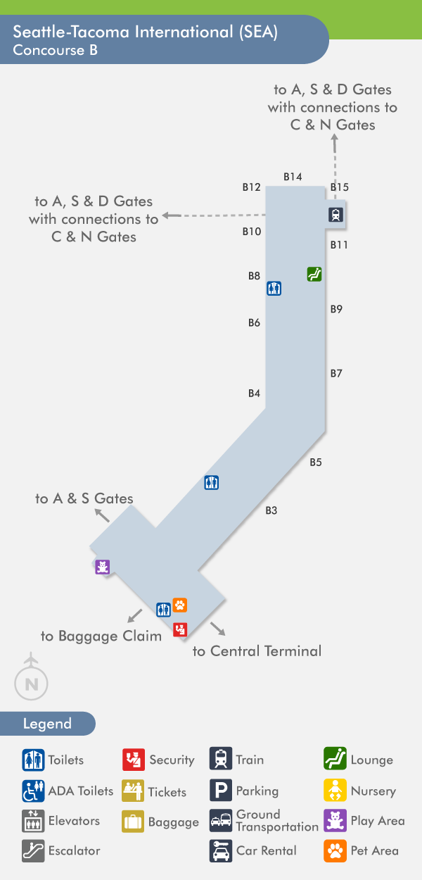 Official Seatac Airport Terminal Map