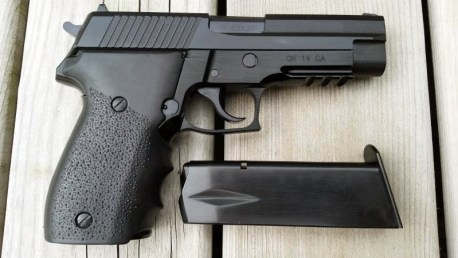 The Dominion Arms P762 pistol, which is chambered in the cheap and widely available 7.62x25mm Tokarev round.