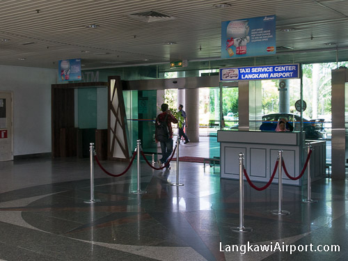 Langkawi Airport Taxi Counter