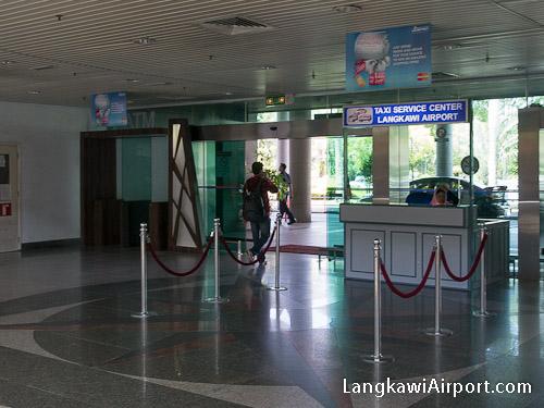 Langkawi Airport Taxi Counter
