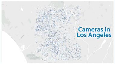 Karte von Los Angeles mit Standorten von Kameras