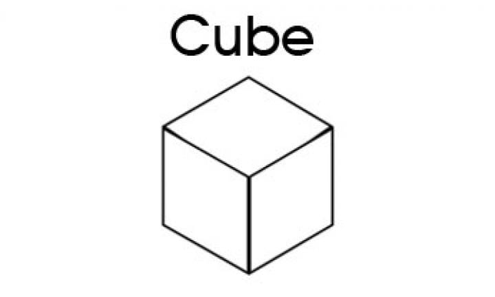 3D Shapes For Kids Cube Kidspot