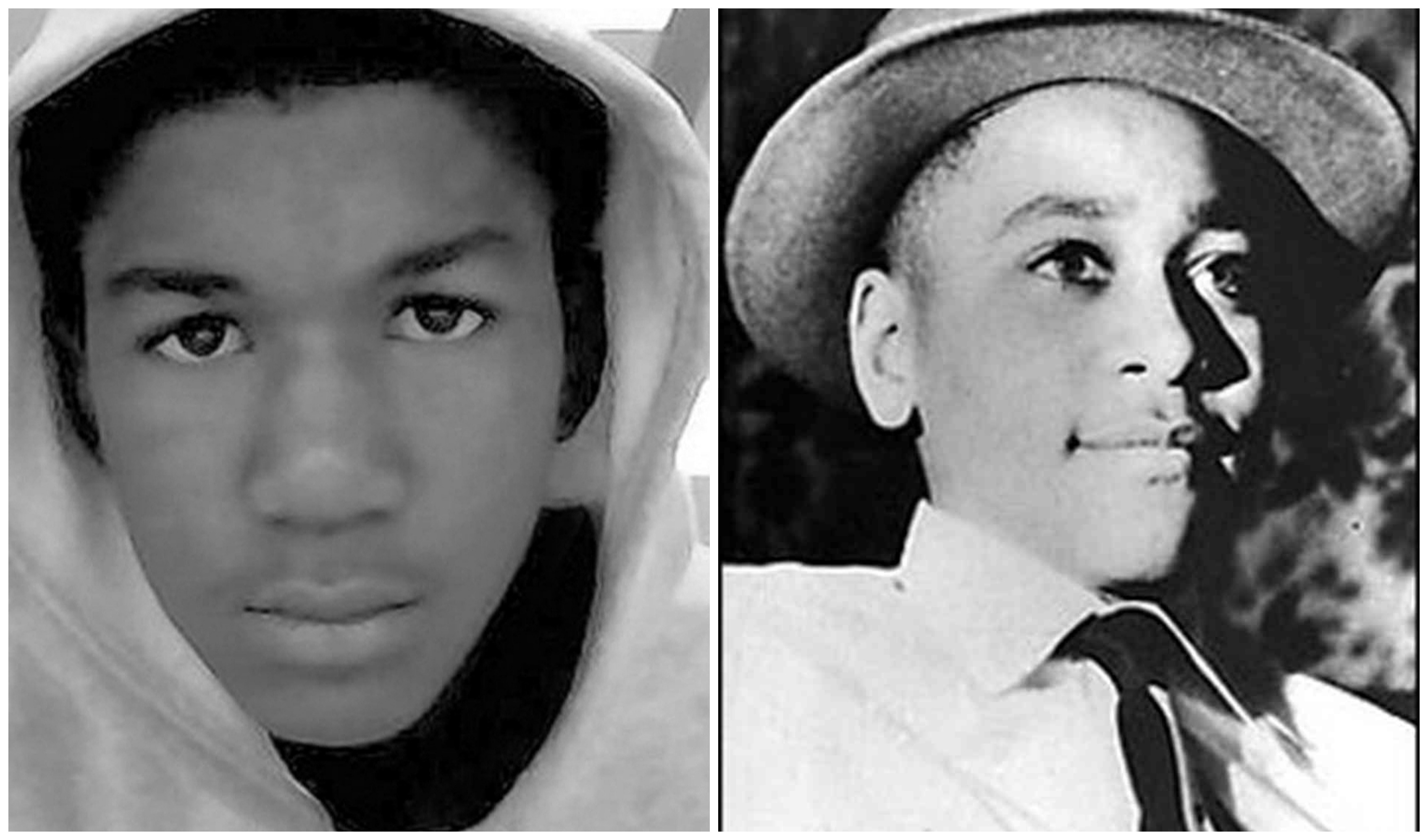 Image result for trayvon martin and emmett till