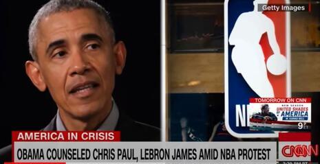 CNN Obama NBA banner