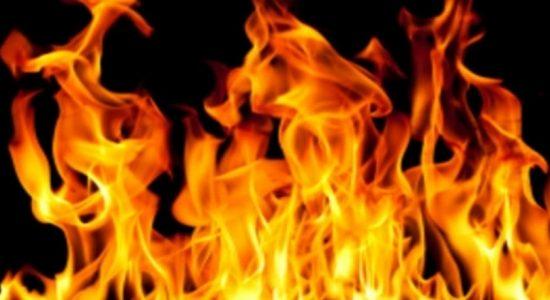 Fire in Wellampitiya