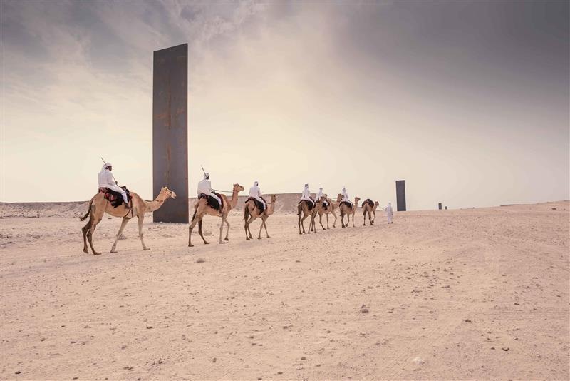 East-West/West-East monoliths, by Richard Serra
