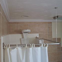 corner shower curtain rod kit