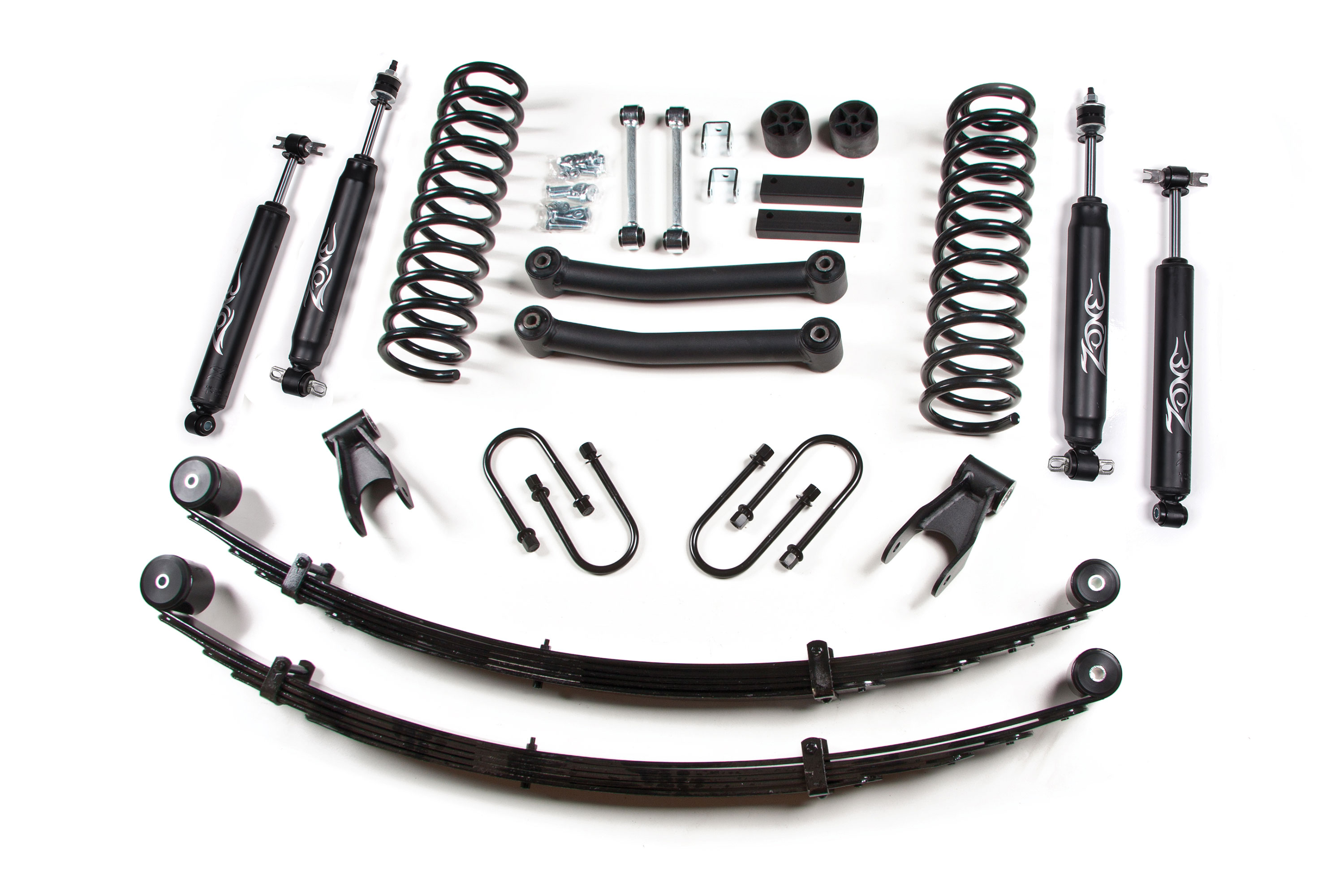 Jeep Cherokee Xj 4 5 Lift Kit W Rear Leaf Springs