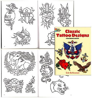 Classic Tattoo Designs Coloring Book Unimax Supply Co