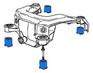 Subframe Mounts  urethane version for E36 and E36 M3