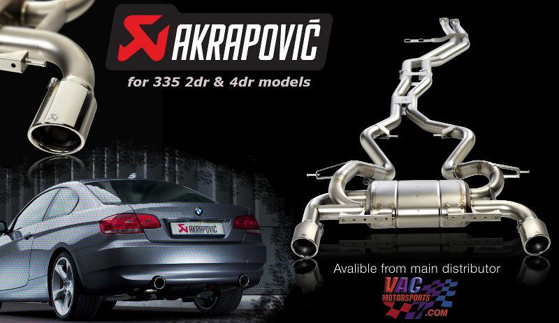 akrapovic e92 335i titanium exhaust systems muffler meisterschaft dixis arqray ericsson