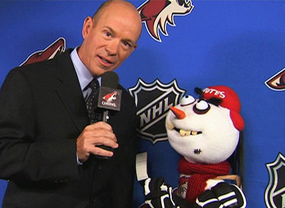 Instead of Barry Melrose and his mullet, Versus gives us a freaking puppet.