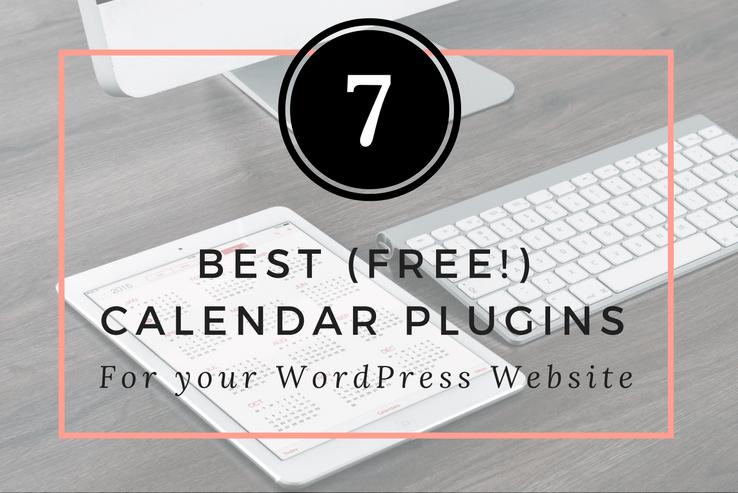Melhor, plugins de calendário grátis para WordPress