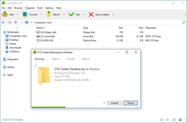 descompactador de arquivos gratis