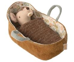 Baby Mouse in Carrycot by Maileg