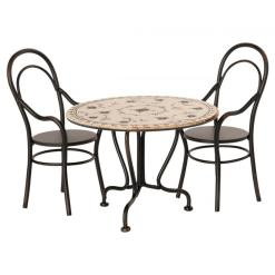 Dining Table Set with Two Chairs by Maileg