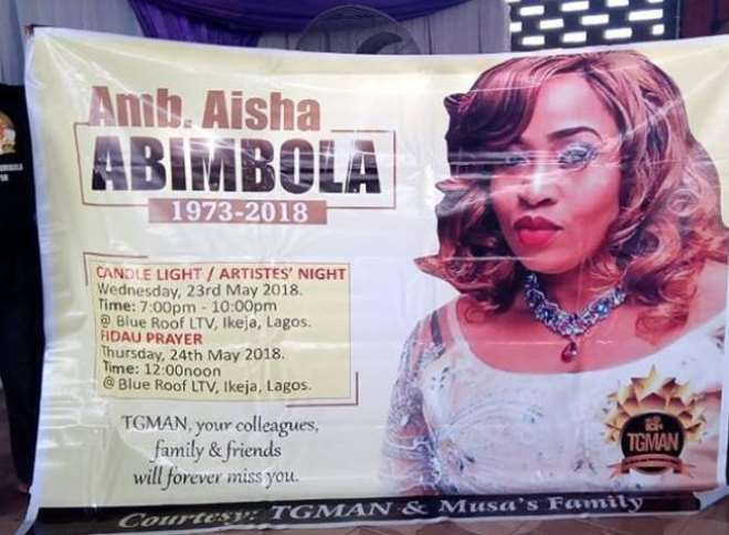Image result for Photos from candlelight procession for Aisha Abimbola by Nollywood Actors