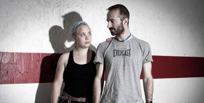 Lovers in hell; physiotherapist Ryan and trainer Hayden. (Post-game,Ylva Bergman)