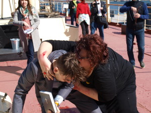 Not even the Bible helps against newly zombified people. Photo by Juhana Pettersson.