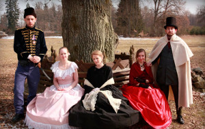Fyodor Ivanovic Gorodskoy, his son Anatol and the women of their lives - Nina, Olga and Jekaterina. (Play, Martin Buchtík)