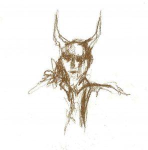 Drawing done after the larp by Freja Gyldenstrøm