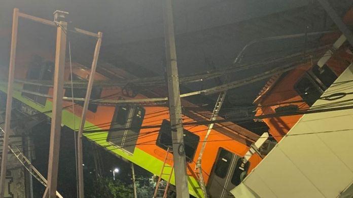 Colapsa estructura y convoy en la L12 del Metro — Noticias en la Mira con  Lourdes Mendoza