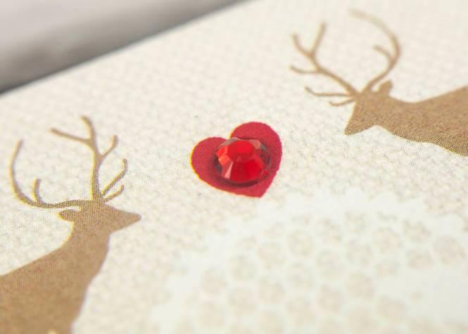 Clic Mistletoe Christmas Holiday Wedding Invites Iwi341