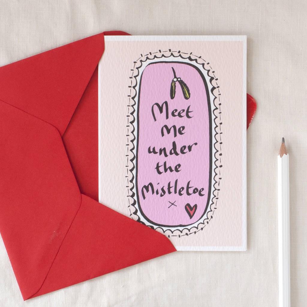 Romantic Christmas Card By Inkpaintpaper