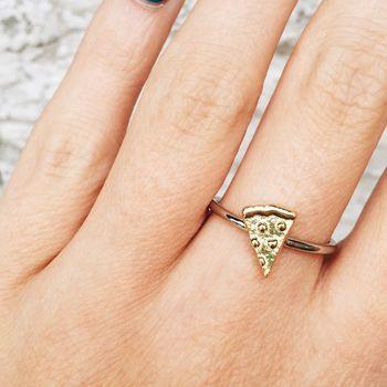 Pizza Sterling Silver Emoji Ring Unique And Quirky Gift Ideas Any Odd Person Will Appreciate (Fun Gifts!)