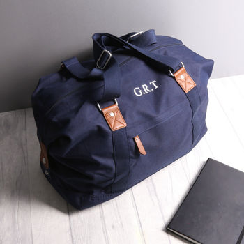Personalised Vintage Holdall Bag