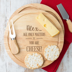 Personalised Cheese Boards And Knives