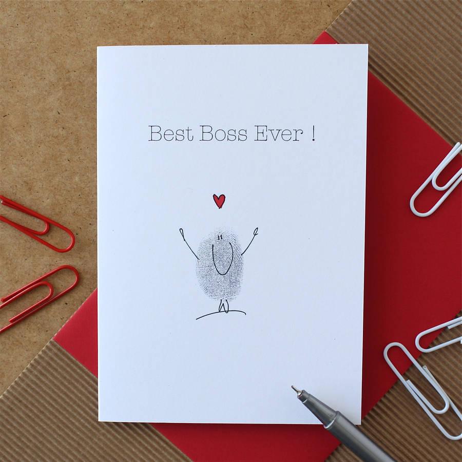 Best Boss Ever Card By Adam Regester Design