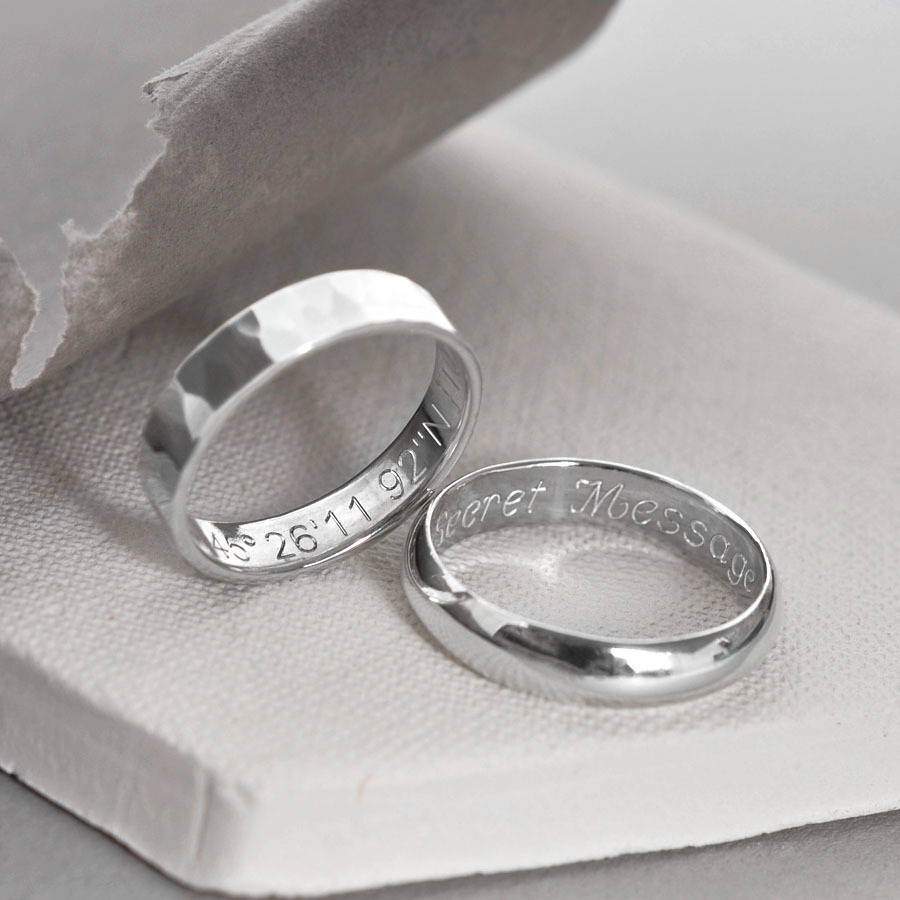 Sterling Silver Secret Message Ring By Martha Jackson
